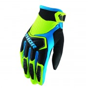 GUANTES INFANTILES DE CROSS THOR GREEN/BLUE