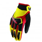 GUANTES ADULTO DE CROSS THOR YELLOW/BLACK