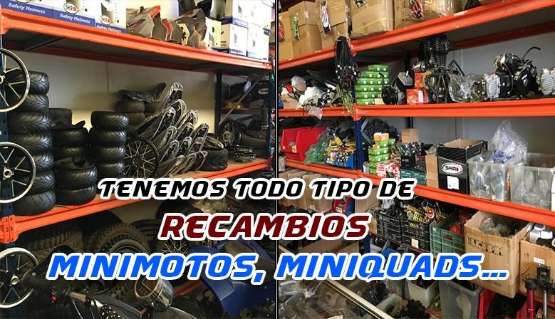 RECAMBIOS DE MINIMOTOS, RECAMBIOS DE MINIQUADS Y PIT BIKES